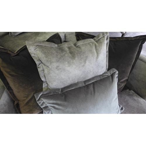 1302 - A copper velvet swivel oversized armchair