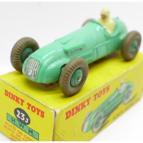 661 - A Dinky Toys No. 23J H.W.M. Racing Car, boxed