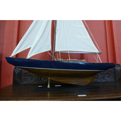 1 - A scale model of a fully rigged yacht