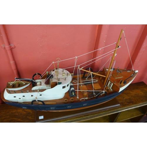 2 - A scale model of a mid 20th Century North Sea trawler