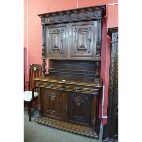 20 - A 19th Century French Henri II style carved oak buffet