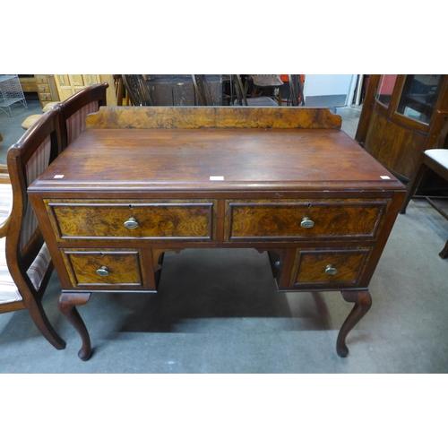 26 - An Edward VII walnut and burr walnut writing desk