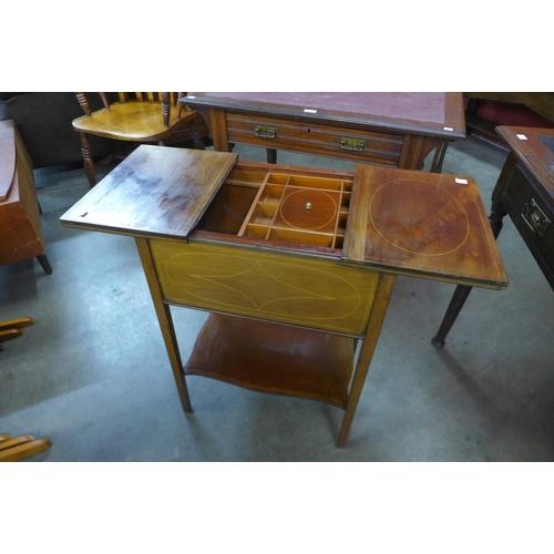 32 - An Edward VII inlaid mahogany lady's sewing box