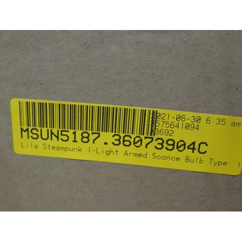 3049 - Single light globe sconce, Charlize 1 light flush mount and a Locksley 8 light LED deck light * This...