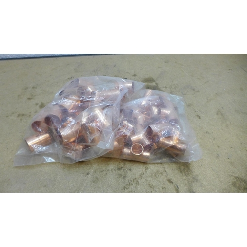 2036 - Qty. of copper pipe fittings