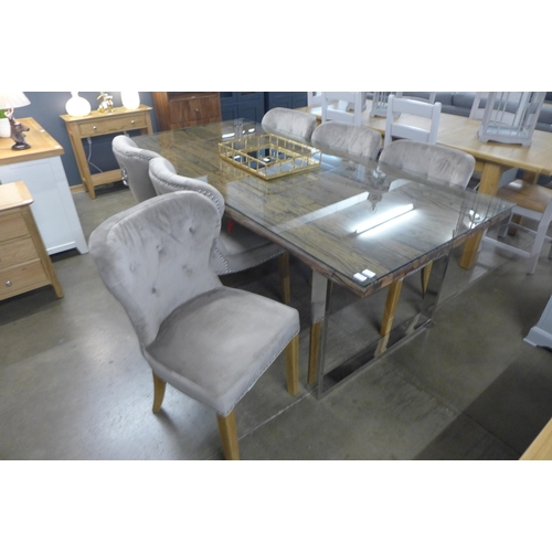 1474A - A Chennai dining table and six Arlo chairs
