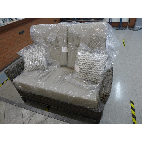 1352 - An Agio Springdale five piece woven garden set with fire pit, RRP £2499.91 + VAT (4061-6 ) * This lo...