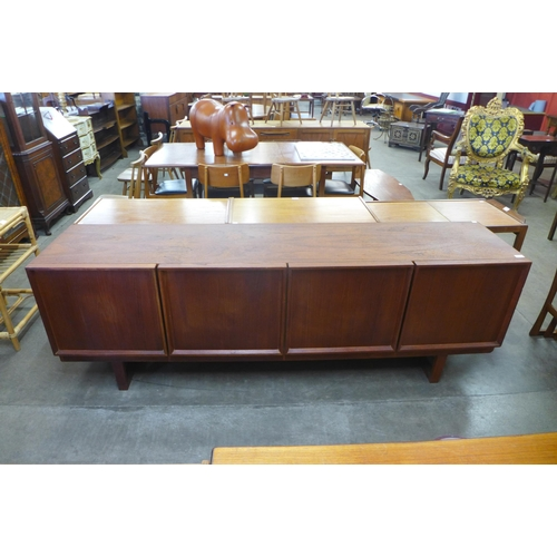 91 - A Danish fitted four door sideboard