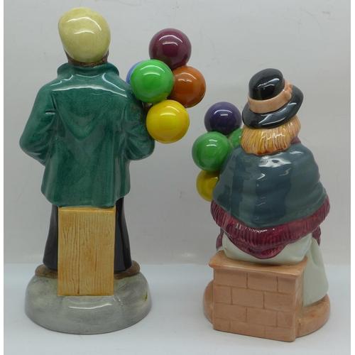 605 - Two Royal Doulton figures, Balloon Boy and Balloon Girl