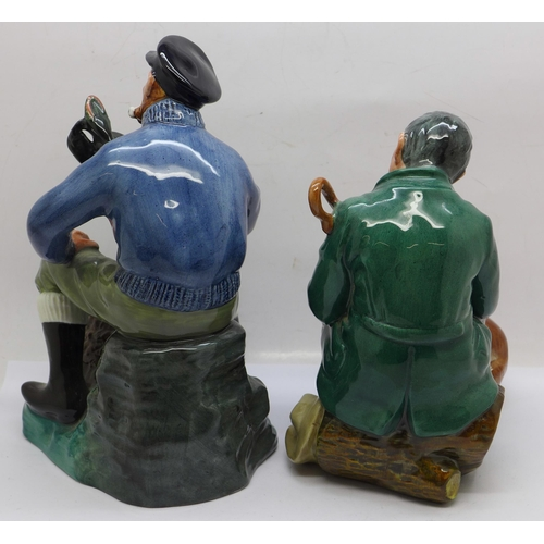 606 - Two Royal Doulton figures; The Lobster Man and The Master