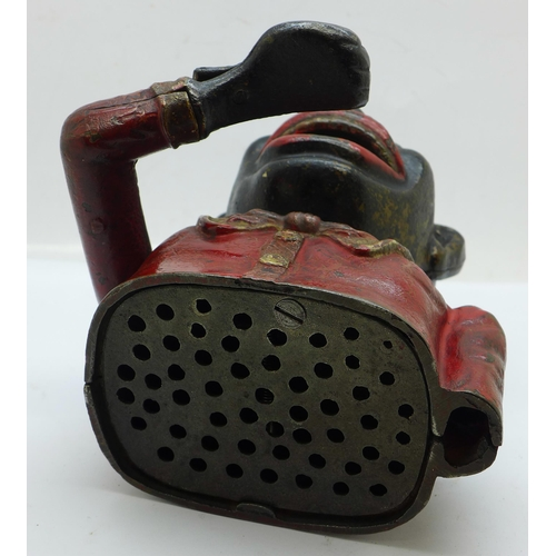 625 - A cast metal money box