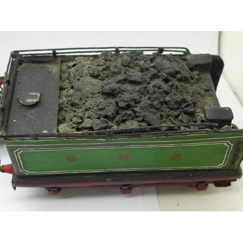 627 - An O Gauge 4-4-2 Great Northern Railway Atlantic Locomotive. Scratch-built model with Leeds Stedman ...