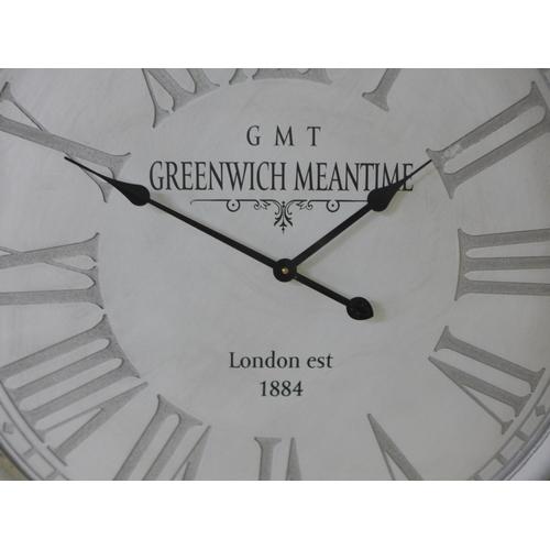 1443 - A Greenwich wall clock H80cms (1634041)  #
