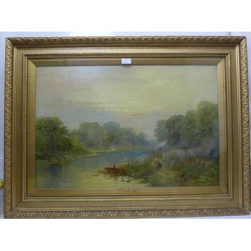 7 - C. Harrison, Barrow on Trent, oil on canvas, dated 1880, framed