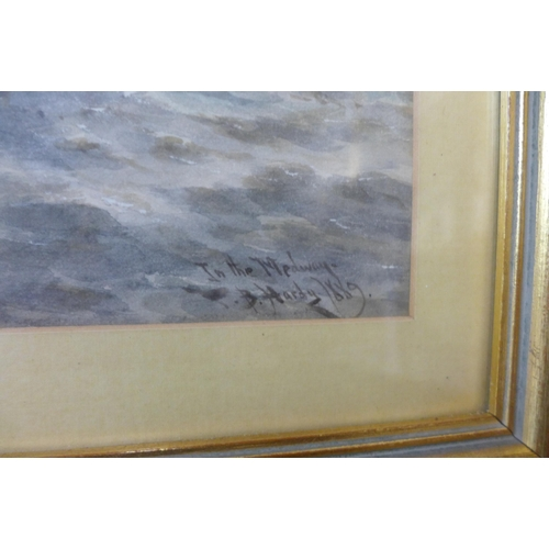 15 - Thomas Bush Hardy (1842-1897), In The Medway, watercolour, dated 1889, 23 x 38cms, framed