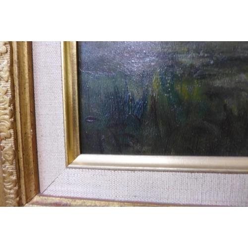 29 - George Boyle (1842-1930), Impressionist landscape, oil on canvas, 24cm x 35cm, framed