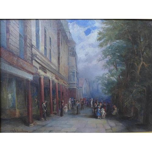 58 - C.H. Wilcookson, The Pantiles, Tunbridge Wells, oil on canvas, dated 1905, 28 x 38cms, framed