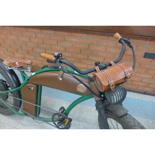1333 - Rayvolt Cruzer E-Bike with charger in British Racing Green, Rrp £3333.33 + Vat        ( 4064-80 )* T...