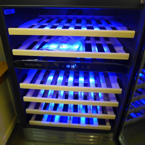 1377 - Montpellier 46 Wine Cooler, Dual Zone    , Rrp £449.91 + Vat  ( 4064-78 )* This lot is subject to va...