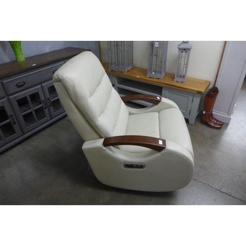 1412 - Benson Leather Power Recliner, True Innovations   , Rrp £458.33 + Vat   ( 4064-77 )* This lot is sub...