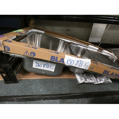 3024 - Two Andros 1.5 Bowl RVS Stainless Steel (500x1000), RRP £224.17 inc. VAT - model no:- BL453634 * Thi...