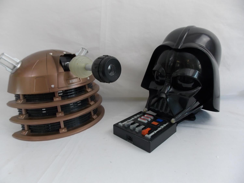 Dalek and Darth Vader voice changing helmets