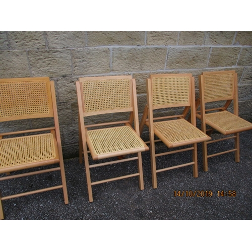 5 - Rattan foldable chairs x 4...