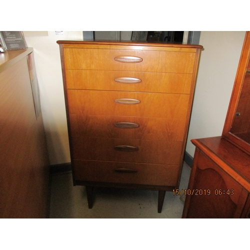 13 - Mid Century G-Plan style 6 drawer bedroom unit...