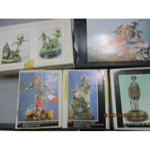 56 - Selection of F.M. Beneito miniatures, white  metal figure kits to include, french officer of infantr...