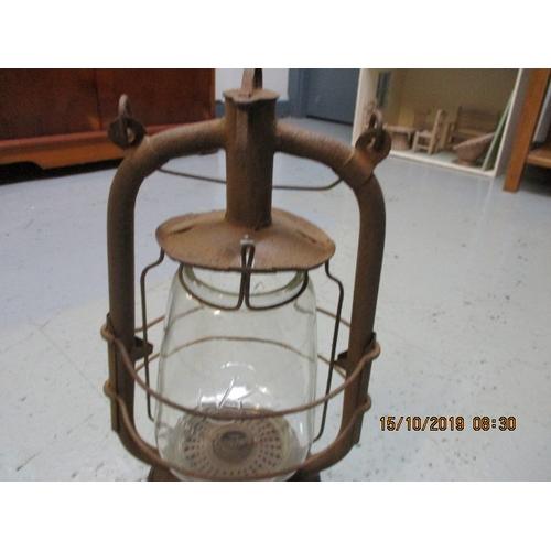 1 - Veritas hurricane lamp oil / pariffin glass unbroken...