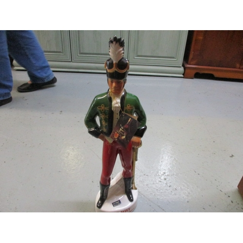 29 - Vintage Irish Mist Decanter featurng an Irish Soldier, 49CM tall. Cork has not been checked  but app...