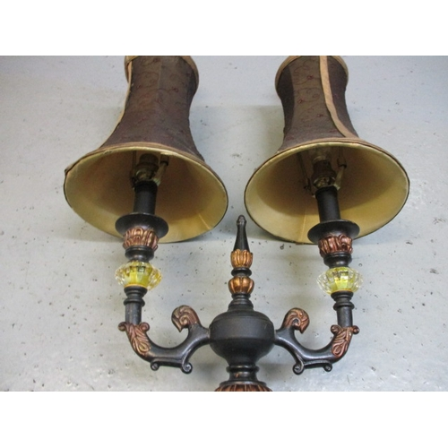 30 - Vintage gothic look, old hotel/manor lamp....