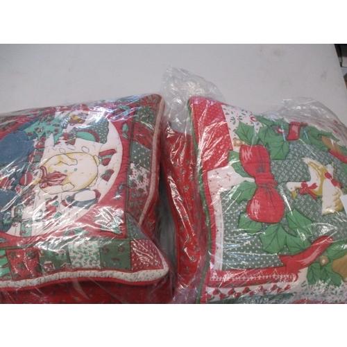 37 - Lot of 4 christmas cushions....