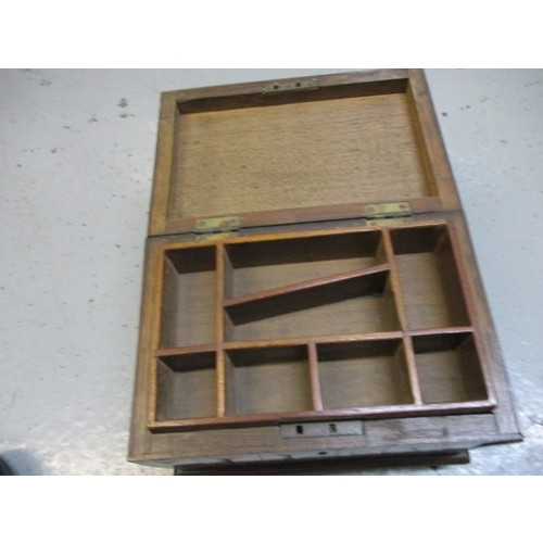 24 - Rosewood box inlaid with different woods in a chevron pattern...