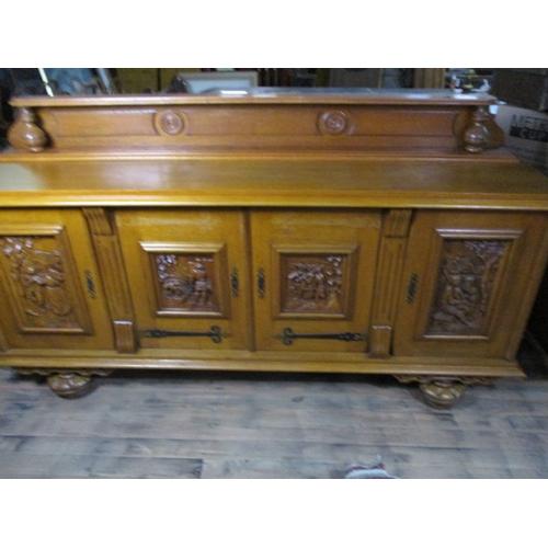 4 - Large Flemish style sideboard 4 doors .87