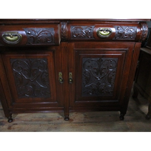 13 - Victorian mirrored wall cupboard with 2 drawers and 2 doors...