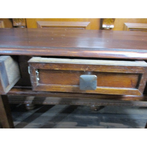 30 - Spanish style hall/console table with 3 drawers, 47