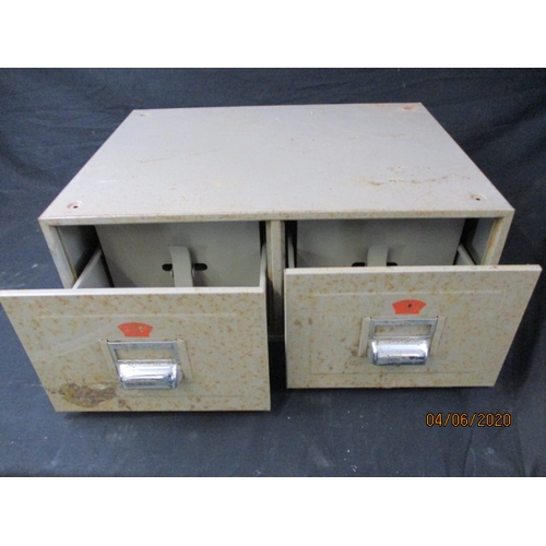 3 - Vintage 2 Drawer Howden Steel Filing Cabinet...