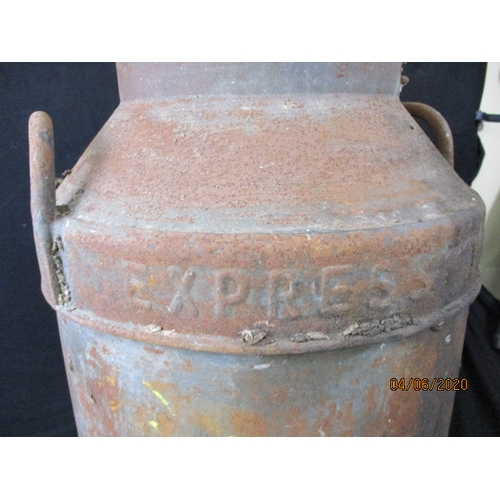 5 - Vintage Steel Express Dairy Urn without lid approx 70cm...