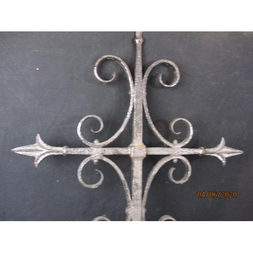 9 - Vintage Decorative Wrought Iron Cross...