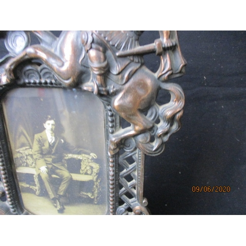 21 - Vintage George & dragon frame....