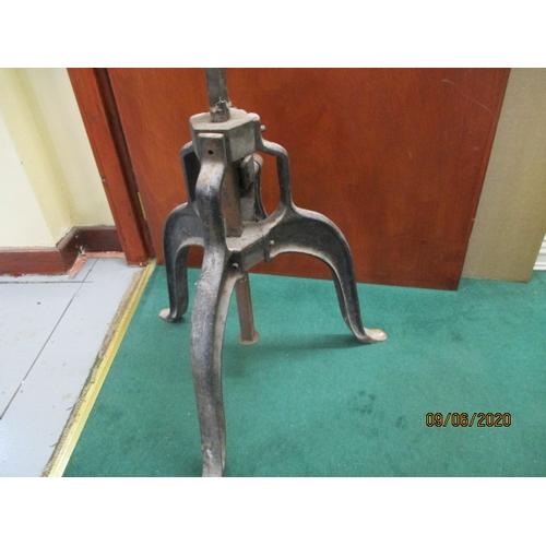 25 - Antique Cast iron machine base would make ideal table base....