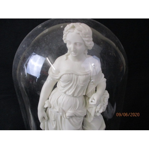 28 - Victorian Parian stunning pair of statues with domes....