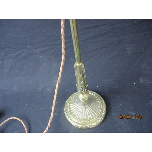 32 - 1920 full articulate lovely detailed lamp, with cranberry shade....