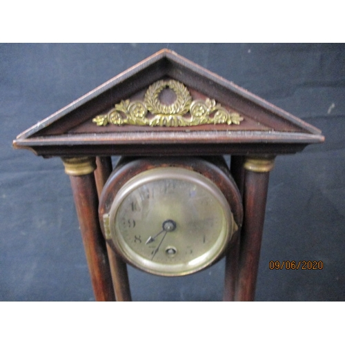 43 - Antique H.A.C German mahogany clock. made in Wurttemburg....