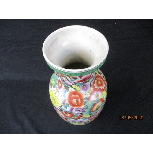 54 - floral detailed Chinese vase....