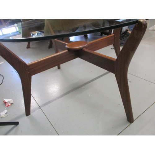 8 - Vintage 1960s Coffee table could be G Plan with glass top...