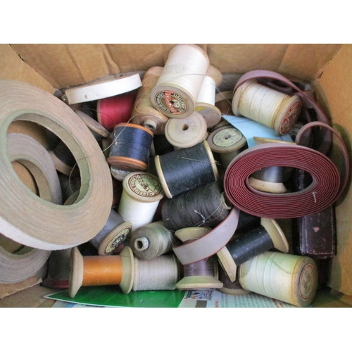 20 - Collection of vintage reels of cotton...