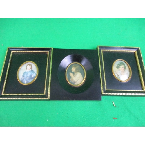 37 - Trio of Antique framed prints to include boy with a rabbit, Sir Thomas Raeburn 1756-1823, The infant...