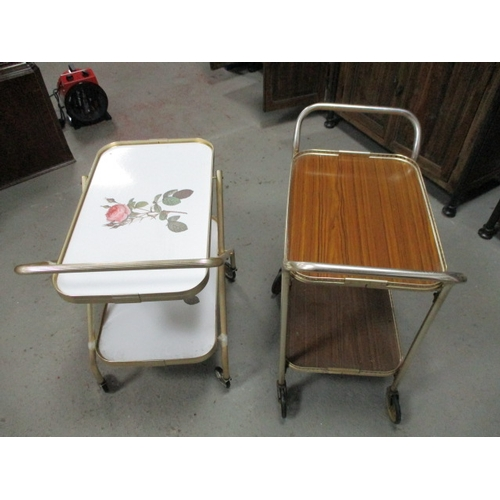 43 - Pair of vintage 1970s hostess trolleys...
